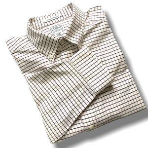 L. L. BEAN 100% COTTON MEN'S DRESS SHIRT SZ 17